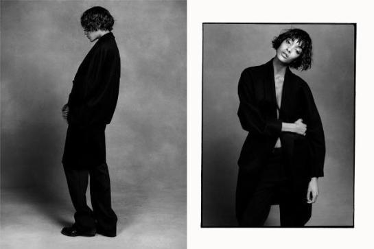 Stella McCartney coat, Raf Simons pant, vintage boot