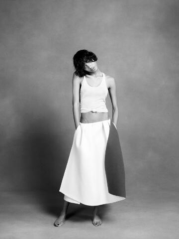 Rick Owens tank, Acne skirt