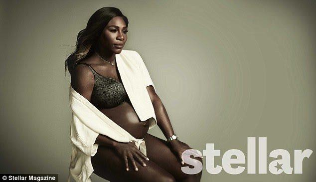 Serena in a black Berlei bra and briefs.